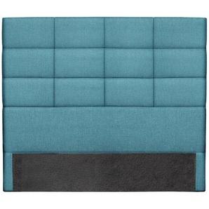 Bettkopfteil, modern, aus blaugrünem Stoff, 160 cm ANATOLE