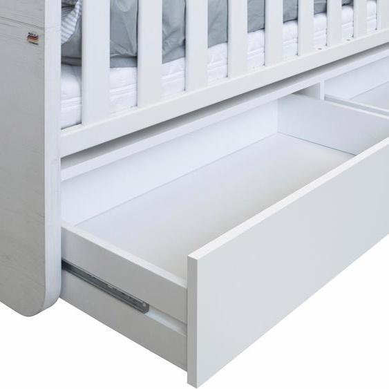 Bettschubkasten Aarhus 139x40x22 cm weiß Baby Babyzimmer Babymöbel-Serien Babymöbel Schubladen