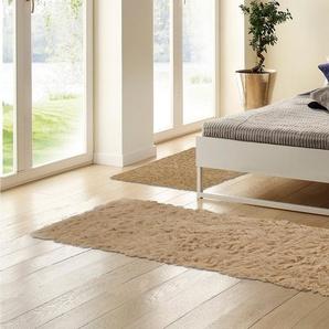 Bettumrandung »Flokati 1500 g« Böing Carpet, Höhe 60 mm, (3-tlg), Bettvorleger, Läufer-Set für das Schlafzimmer, reine Wolle, handgewebt