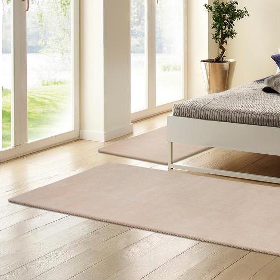 My HOME Bettumrandung Jescha B/L (Brücke): 70 cm x 140 (2 St.) (Läufer): 270 (1 St.), rechteckig beige Bettumrandungen Läufer Teppiche