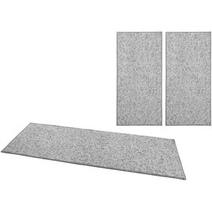 Bettumrandung »Wolly 2« BT Carpet, Höhe 12 mm, (3-tlg), Woll-Optik, Hoch-Tief-Effekt