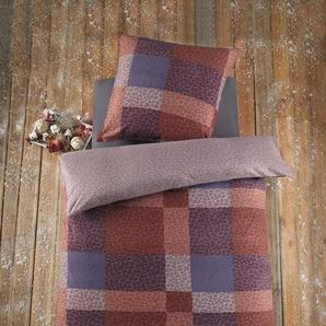 Bettwäsche »Flausch Fleece Bettwäsche 2tlg. JULIAN«, Optidream, 135x200 80x80 cm, kuschelig warm