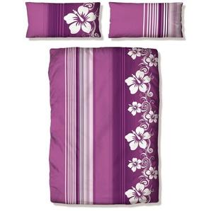 Bettwäsche »Kelli«, my home, mit Streifen und Blüten
