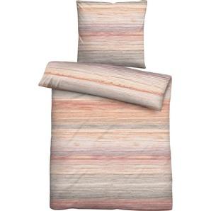 Bettwäsche »Liana«, Biberna, mit feinen Streifen