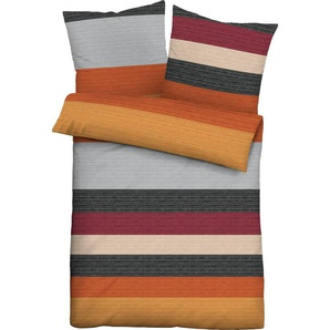 Bettwäsche »Noemi«, Biberna, in kräftigen Farben
