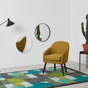 Essentials Bex runder Spiegel (55 cm), Weiss