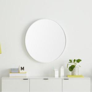 Essentials Bex runder Spiegel (76 cm), Weiss