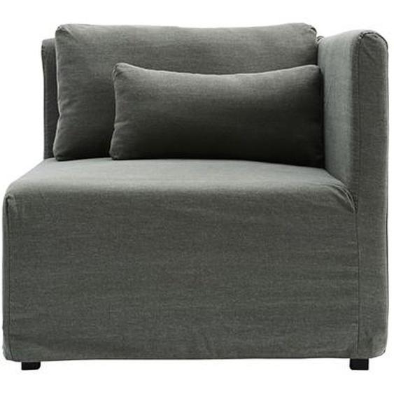Bezug für Eckteil Base aus Baumwolle in Grün 85 x 85 x 44 cm