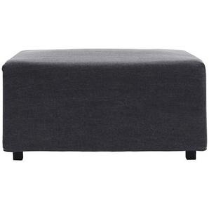 Bezug für Pouf Base aus Baumwolle in Grau