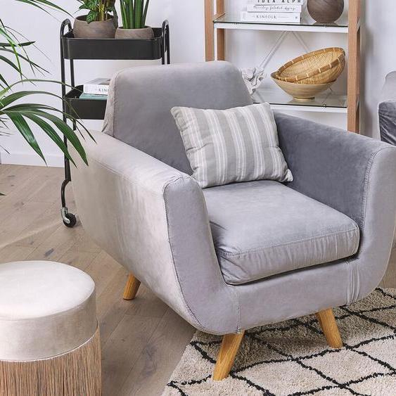 Bezug für Sessel BERNES Samtstoff grau