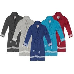 Biberna Hamam-Bademantel, unisex, reine Baumwolle, leichter Stoff, trocknergeeignet