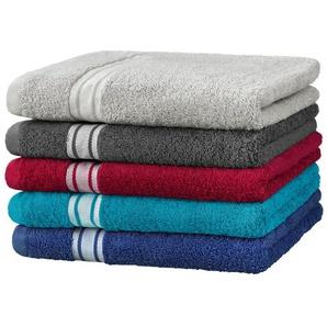 Biberna Hamam-Handtuch, reine Baumwolle, Rückseite Frottier, trocknergeeignet
