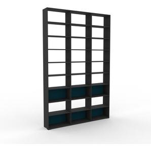 Bibliotheksregal Anthrazit - Individuelles Regal für Bibliothek: Einzigartiges Design - 226 x 350 x 35 cm, konfigurierbar