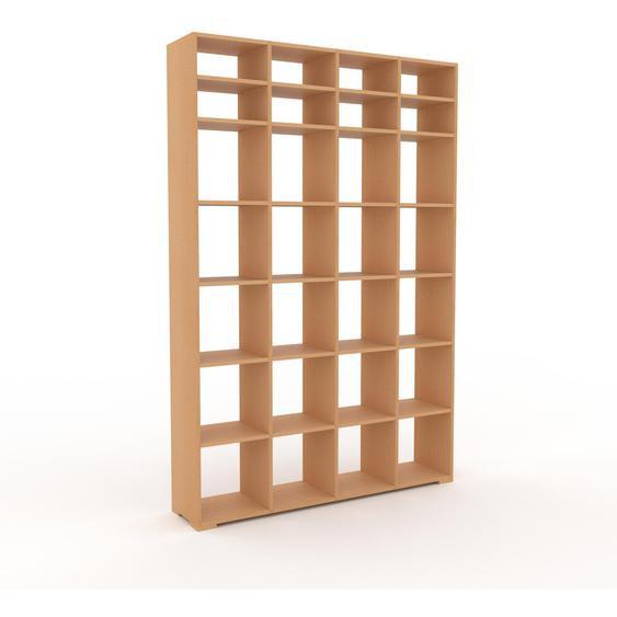 Bibliotheksregal Buche, Holz - Individuelles Regal für Bibliothek: Einzigartiges Design - 156 x 235 x 35 cm, konfigurierbar
