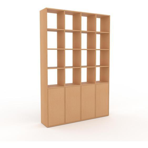Bibliotheksregal Buche - Individuelles Regal für Bibliothek: Türen in Buche - 156 x 233 x 35 cm, konfigurierbar