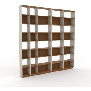 Bibliotheksregal Nebelgrün - Individuelles Regal für Bibliothek: Einzigartiges Design - 303 x 316 x 35 cm, konfigurierbar