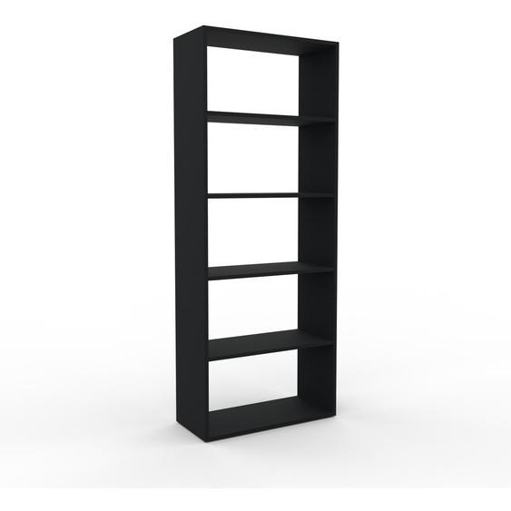 Bibliotheksregal Schwarz - Individuelles Regal für Bibliothek: Einzigartiges Design - 77 x 195 x 35 cm, konfigurierbar