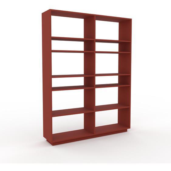 Bibliotheksregal Terrakotta - Individuelles Regal für Bibliothek: Einzigartiges Design - 152 x 200 x 35 cm, konfigurierbar