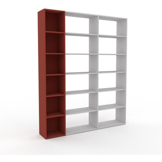Bibliotheksregal Terrakotta - Individuelles Regal für Bibliothek: Einzigartiges Design - 190 x 233 x 35 cm, konfigurierbar
