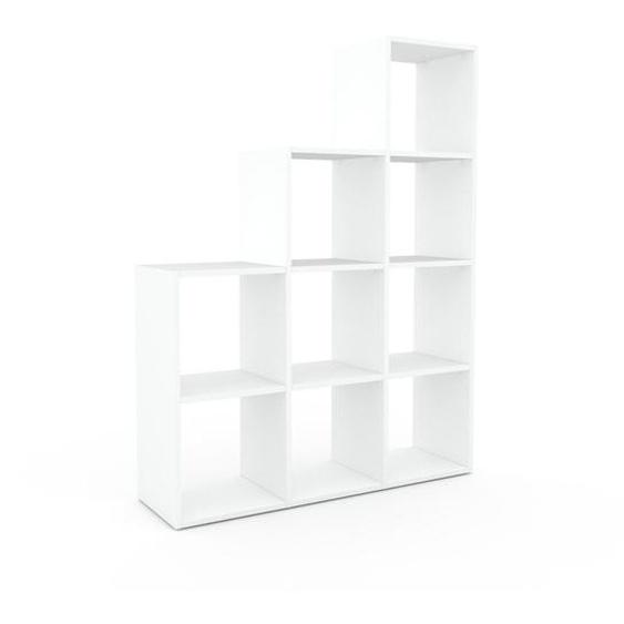 Bibliotheksregal Weiß - Individuelles Regal für Bibliothek: Einzigartiges Design - 118 x 157 x 35 cm, konfigurierbar