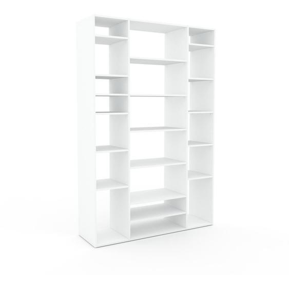 Bibliotheksregal Weiß - Individuelles Regal für Bibliothek: Einzigartiges Design - 154 x 233 x 47 cm, konfigurierbar