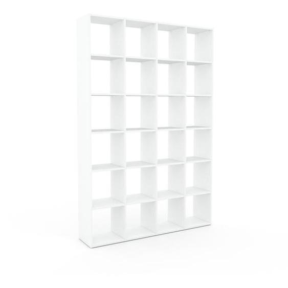 Bibliotheksregal Weiß - Individuelles Regal für Bibliothek: Einzigartiges Design - 156 x 233 x 35 cm, konfigurierbar