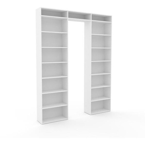 Bibliotheksregal Weiß - Individuelles Regal für Bibliothek: Einzigartiges Design - 226 x 291 x 35 cm, konfigurierbar