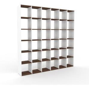 Bibliotheksregal Weiß - Individuelles Regal für Bibliothek: Einzigartiges Design - 233 x 233 x 35 cm, konfigurierbar