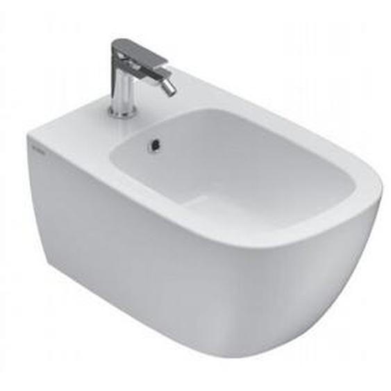 Hänge Bidet 36x55 cm aus Keramik | Glänzendes Weiß