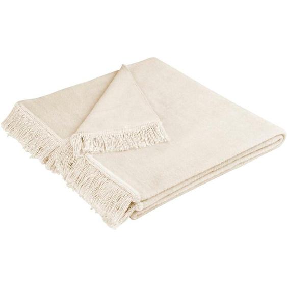 BIEDERLACK Sesselschoner Cotton Cover Einheitsgröße beige Sofaüberwürfe Hussen Überwürfe