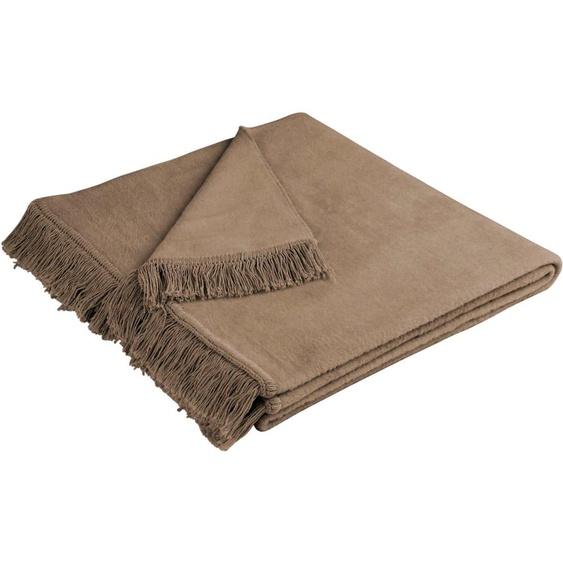 BIEDERLACK Sesselschoner Cotton Cover Einheitsgröße braun Sofaüberwürfe Hussen Überwürfe