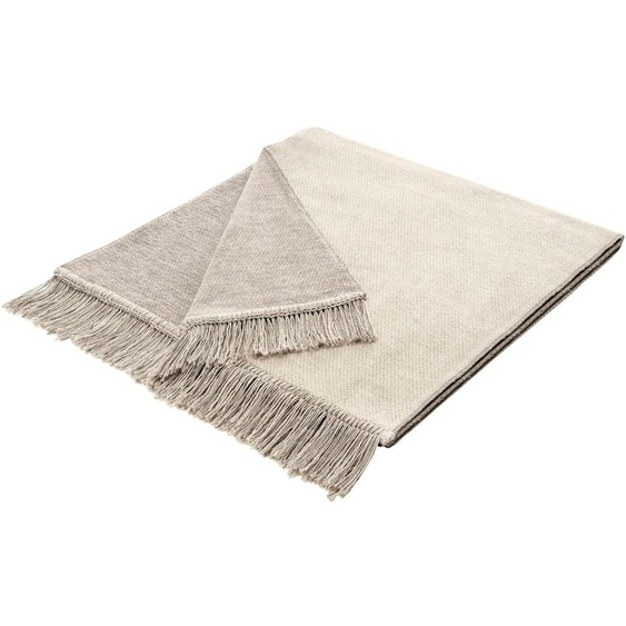 BIEDERLACK Sesselschoner Salt 50x200 cm, Baumwolle-Kunstfaser beige Sofaüberwürfe Hussen Überwürfe