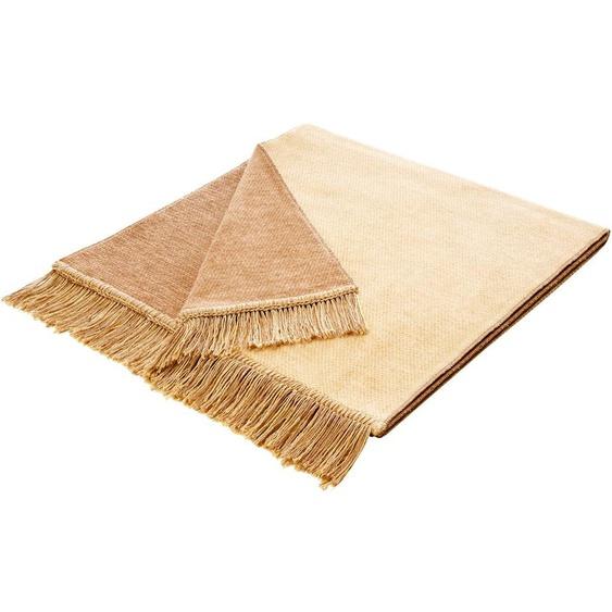 BIEDERLACK Sesselschoner Salt 50x200 cm, Baumwolle-Kunstfaser braun Sofaüberwürfe Hussen Überwürfe