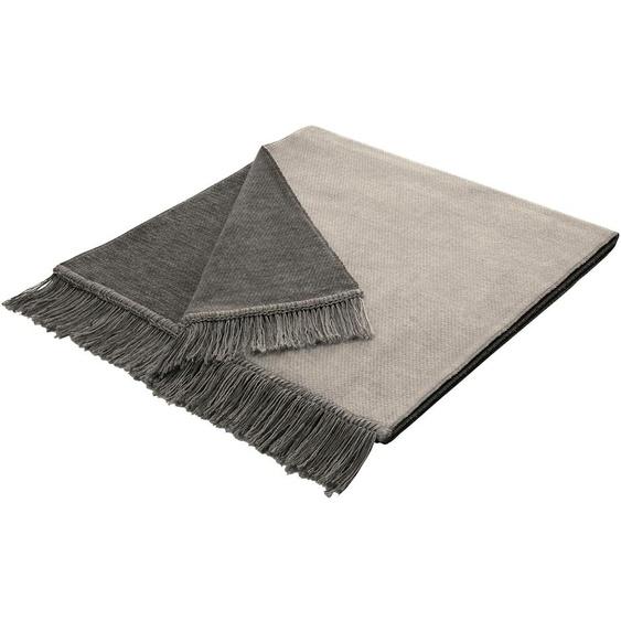 BIEDERLACK Sesselschoner Salt 50x200 cm, Baumwolle-Kunstfaser grau Sofaüberwürfe Hussen Überwürfe