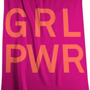 Biederlack Wohndecke »Girl Power«, 150x200 cm, rosa