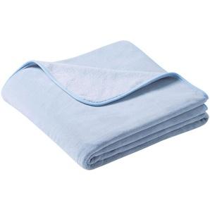 Biederlack Wohndecke »Pure Soft«, 180x220 cm, blau