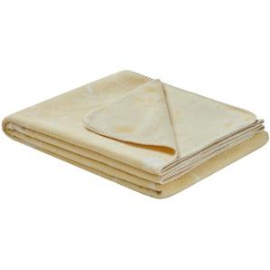 Wohndecke  Sun Kissed ¦ gelb ¦ 50% Baumwolle, 43% Polyacryl, 7% Polyester ¦ Maße (cm): B: 150