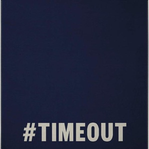Biederlack Wohndecke »Timeout«, 150x200 cm, blau