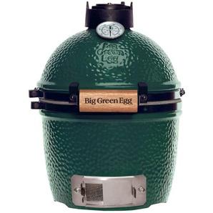 Big Green Egg Holzkohlegrill, Grün, Keramik 25 x 43 cm