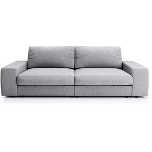 Big Sofa hellgrau - Flachgewebe Brooke ¦ grau ¦ Maße (cm): B: 262 H: 88 T: 120 Polstermöbel  Sofas  Big-Sofas » Höffner