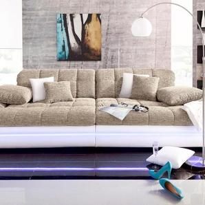 Big-Sofa, weiß, 318cm, Energieeffizienzklasse: A, Nova Via