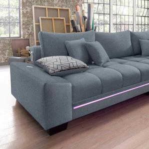 Big-Sofa, hellgrau, 300cm, Nova Via