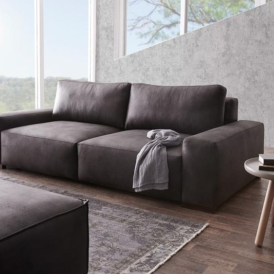 Big-Sofa Lanzo XL 270x125 cm Anthrazit Vintage Optik, Big Sofas