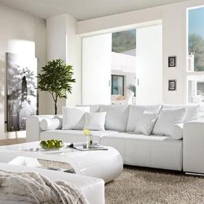 Big-Sofa Marbeya 290x110 cm Weiss mit Schlaffunktion, Big Sofas