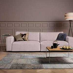Big-Sofa , , rosa, Standardnaht, Zweinadelnaht, 252cm, »Lucia«, GALLERY M