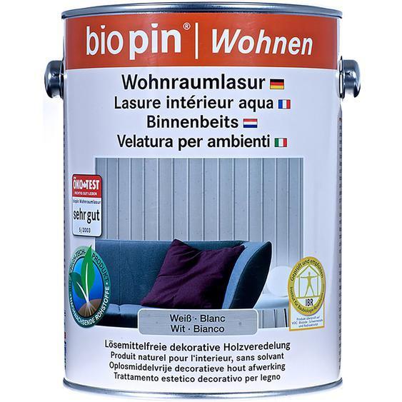 Biopin Wohnraumlasur Weiß 2,5 l