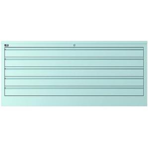 Bisley ECO Plan- und Zeichnungsschrank, Lichtgrau, 5 Schubladen DIN A0
