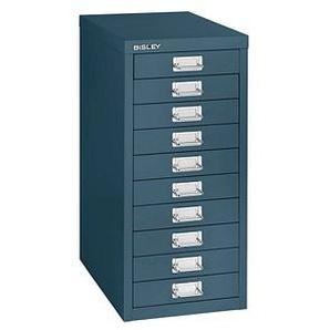 BISLEY MultiDrawer™ L2910 Schubladenschrank blau/blau 10 Schubladen