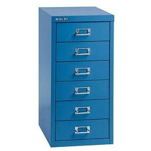 BISLEY MultiDrawer™ L296 Schubladenschrank blau/blau 6 Schubladen