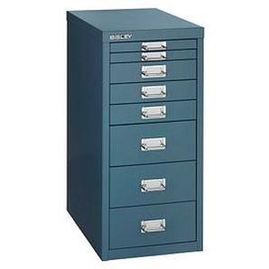 BISLEY MultiDrawer™ L298 Schubladenschrank blau/blau 8 Schubladen